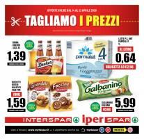 Copertina Volantino Despar, Eurospar, Interspar, Iperspar Calabria
