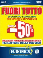 Copertina Volantino Euronics (Gruppo Cerioni): Marche