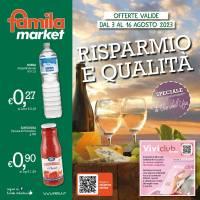 Copertina Volantino Famila Toscana e Umbria