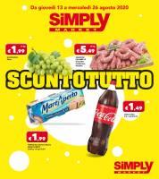 Copertina Volantino Simply Market Sma: Calabria e Sicilia
