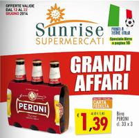 Copertina Volantino Sunrise Supermercati