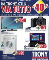 Copertina Volantino Trony Lombardia luglio 2013